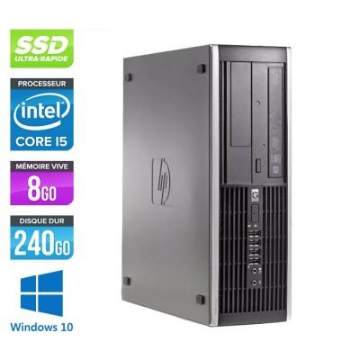 Pc de bureau professionnel reconditionné - HP 8300 SFF - Intel i5-3470 - 8Go - 240Go SSD - Windows 10