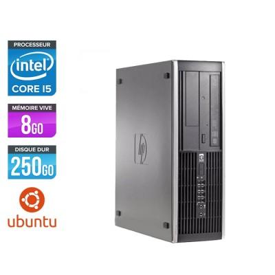 Pc de bureau professionnel reconditionné - HP 8300 SFF - Intel i5-3470 - 8 Go - 250 Go HDD - Linux