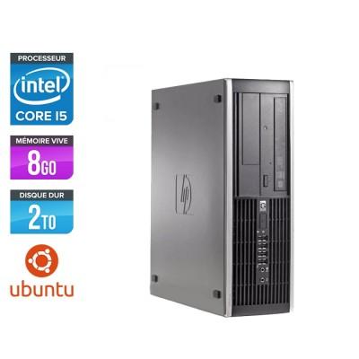 Pc de bureau professionnel reconditionné - HP 8300 SFF - Intel i5-3470 - 8Go - 2To HDD - Linux