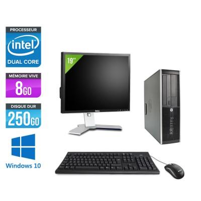 """HP Elite 8300 SFF - G870 - 8Go - 250Go + Ecran 19"""" - Windows 10"""