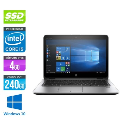 HP Elitebook 840 G3 - i5 - 4Go - SSD 240Go - 14'' - Windows 10