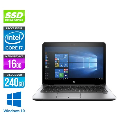 HP Elitebook 840 G3 - i7 - 16Go - SSD 240Go - 14'' - Windows 10