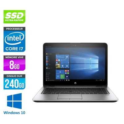 HP Elitebook 840 G3 - i7 - 8Go - SSD 240Go - 14'' - Windows 10
