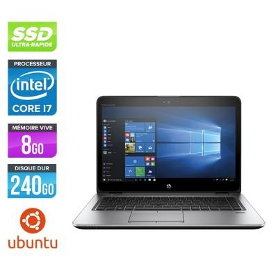 HP Elitebook 840 G3 - i7 - 8Go - SSD 240Go - 14'' - Linux