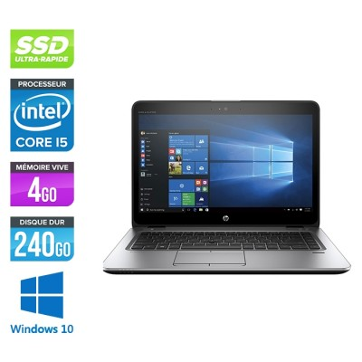HP Elitebook 840 G4 - i5 - 4Go - SSD 240Go - 14'' - Windows 10