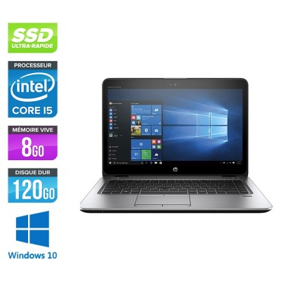 HP Elitebook 840 G4 - i5 - 8Go - SSD 120Go - 14'' - Windows 10