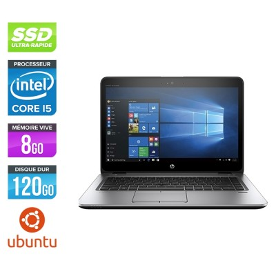 HP Elitebook 840 G4 - i5 - 8Go - SSD 120Go - 14'' - Linux