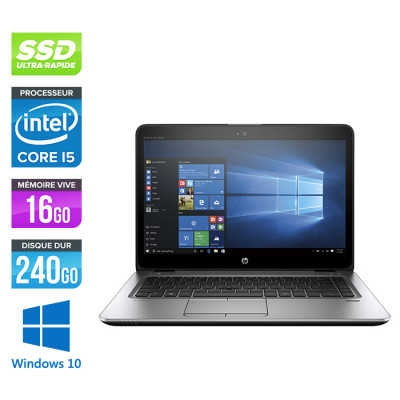 HP Elitebook 840 G3 - i5 - 16Go - SSD 240Go - 14'' - Windows 10
