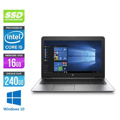 Pc portable reconditionné - HP Elitebook 850 G3 - i5 6200U - 16 Go - SSD 240 Go - HD - Windows 10