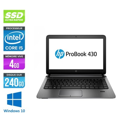 HP 430 G2 - i5 - 4Go - 240Go SSD -13.3'' - W10