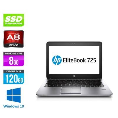HP Elitebook 725 G2 - i5 - 8Go - SSD 120Go - 12.5'' - Windows 10