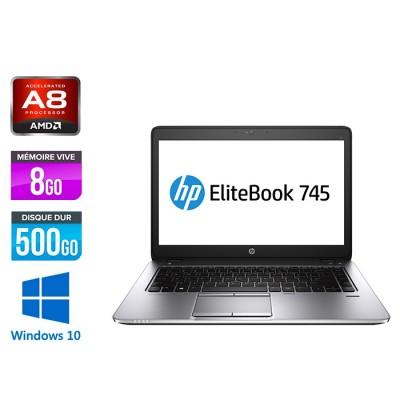 HP Elitebook 745 G2 - i5 - 8Go - 500Go HDD - 14'' - Windows 10