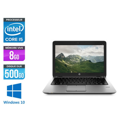 HP Elitebook 820 G2 - Ultrabook reconditionné - i5 5300U - 8Go - 500Go HDD - Windows 10