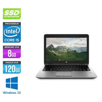 HP Elitebook 820 G2- i5 5300U - 8Go - 120 Go SSD  - Windows 10