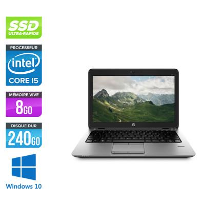 HP Elitebook 820 - i5 5300U - 8Go - 240 Go SSD  - Windows 10
