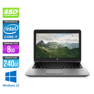Ordinateur portable reconditionné - HP Elitebook 820 G2- i7 5600U - 8Go - 240 Go SSD - Windows 10