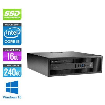 HP EliteDesk 800 G2 SFF - i5 - 16Go DDR4 - 240Go SSD - Windows 10