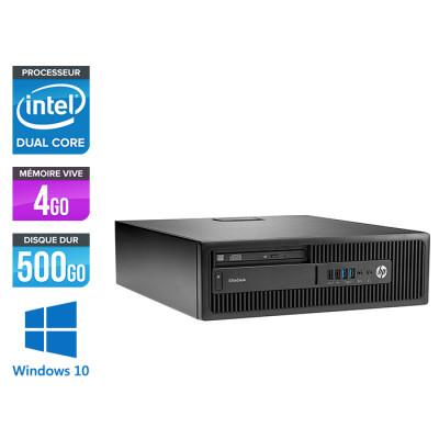 Pc de bureau HP EliteDesk 800 G2 SFF reconditionné - G4400T - 4Go DDR4 - 500Go HDD - Windows 10