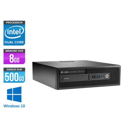 Pc de bureau HP EliteDesk 800 G2 SFF reconditionné - G4400T - 8Go DDR4 - 500Go HDD - Windows 10