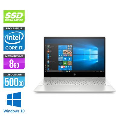HP ENVY x360 Convertible 15-dr0022nf - Pc portable reconditionné - Intel Core i7-8565U - 8Go RAM DDR4 - SSD 512Go - Windows 10