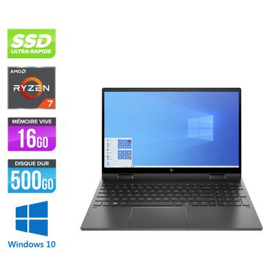 "Pc portable reconditionné HP Envy X360 15-EE0009NF - AMD Ryzen™ 7 4700U - 16Go DDR4 - SSD 512Go - 15.6"" Full HD IPS - Webcam - Windows 10 Famille - Trade Discount"