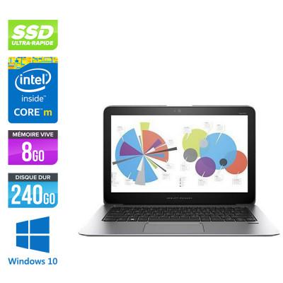 HP Elitebook 1020 G1 - Intel Core M-5Y51 1.10GHz - 8 Go RAM DDR3 - 240Go SSD - 14'' QHD Tactile - LED - Windows 10