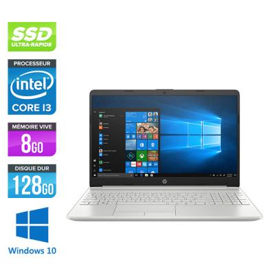 HP Laptop 15-dw0034nf - i3-8145U - 8Go - 1 To HDD - 128 Go SSD - Windows 10