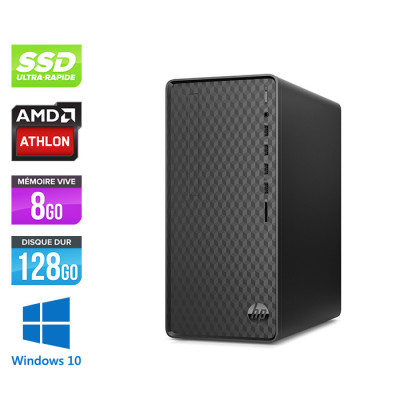 HP Desktop M01-F0025nf - AMD Athlon - 8Go - 128Go SSD - 1To HDD - Windows 10