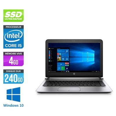 HP 430 G3 - i5 6200U - 4Go - 240Go SSD -13.3'' - W10