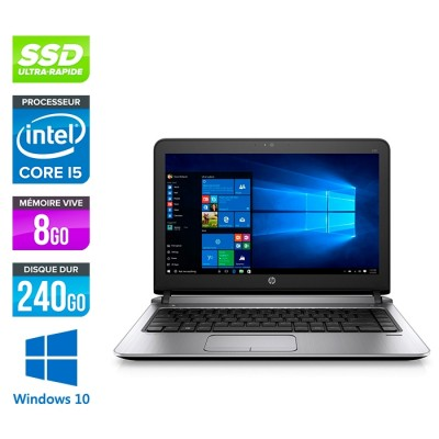 HP 430 G3 - i5 6200U - 8Go - 240Go SSD -13.3'' - W10