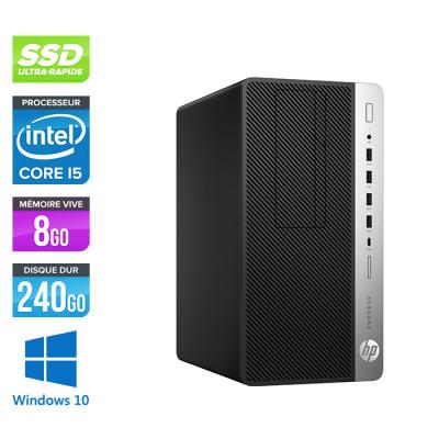 HP ProDesk 600 G3 Mini Tour - i5-6500 - 8Go DDR4 - 240Go SSD - Windows 10