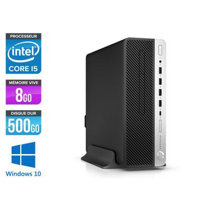 HP ProDesk 600 G4 SFF - i5-8500 - 8Go DDR4 - 500Go HDD - Windows 10