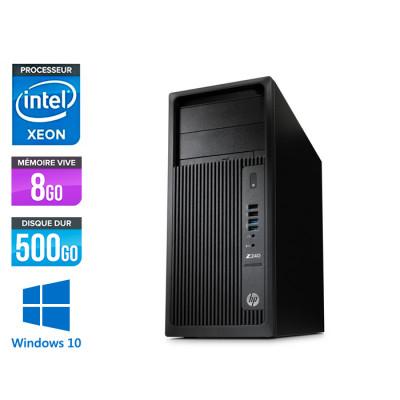 HP Workstation Z240 - E5-1225 V5 - 8Go - 500Go HDD - Quadro K620 - Windows 10