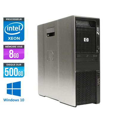 HP Z600 - XEON - 8Go - 500Go HDD - NVS 295 - W10