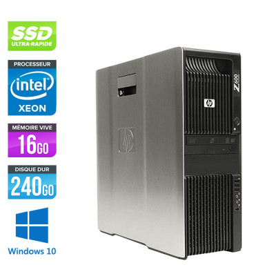 HP Z600 - 2x XEON - 16Go - 240Go SSD - 2x NVS 450 - W10
