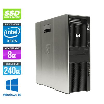 HP Z600 - 2x XEON - 8Go - 240Go SSD - 2x NVS 450 - W10