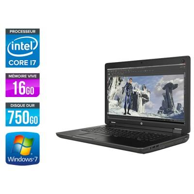 HP Zbook 17 - i7 - 16Go - HDD 750Go - Nvidia K3100M - Windows 7