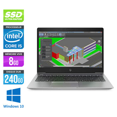 Hp Zbook 14U G5 - i5 - 8Go - 240Go SSD - Windows 10