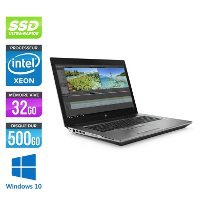 Hp Zbook 17 G6 - i7 - 32Go - 500Go SSD - Windows 10