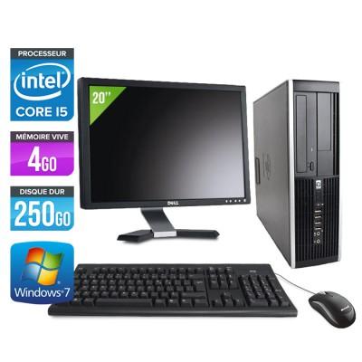 "HP Elite 8200 SFF + Ecran 20"" - Core i5 - 4Go - 250Go"