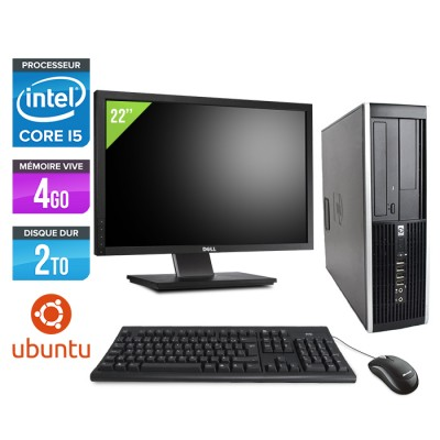 "HP Elite 8200 SFF + Ecran 22"" - Core i5 - 4Go - 2 to - linux"