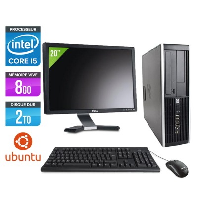 "HP Elite 8200 SFF + Ecran 20"" - Core i5 - 8Go - 2 to - linux"