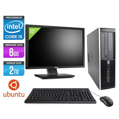 "HP Elite 8200 SFF + Ecran 22"" - Core i5 - 8Go - 2 to - linux"