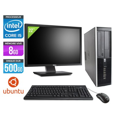 "HP Elite 8200 SFF + Ecran 22"" - Core i5 - 8Go - 500Go - linux"