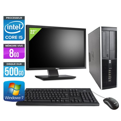 "HP Elite 8200 SFF + Ecran 22"" - Core i5 - 8Go - 500Go -Windows 7"