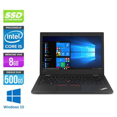 Pc portable reconditionné - Lenovo ThinkPad L390 - Intel Core i5-8265U - 8Go de RAM - 500Go SSD - W10