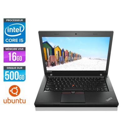 Lenovo ThinkPad L450 - i5 - 16Go - 500Go HDD - webcam - Linux