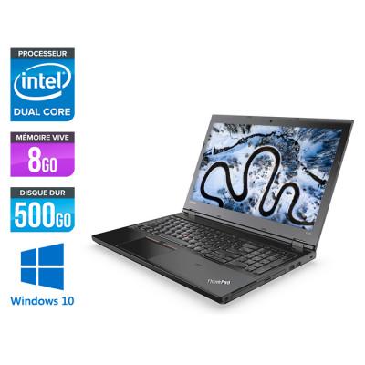 Ordinateur portable reconditionné - Lenovo ThinkPad L470 - Celeron - 8Go - HDD 500Go - Windows 10