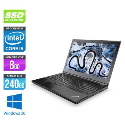Ordinateur portable reconditionné - Lenovo ThinkPad L470 - i5 - 8Go - SSD 240Go - Windows 10
