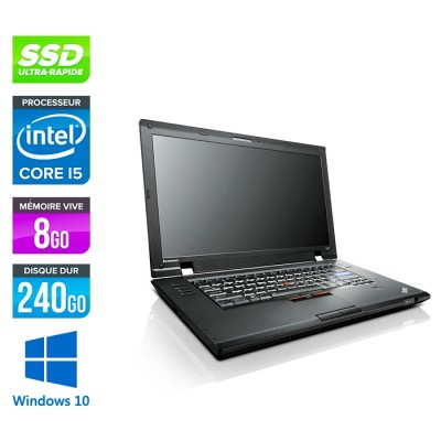 Lenovo ThinkPad L520 - Core i5 - 8Go - 240 Go SSD - Windows 10
